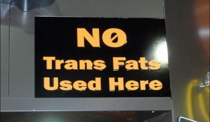 Pending trans fats regulations have to be notified by 2022