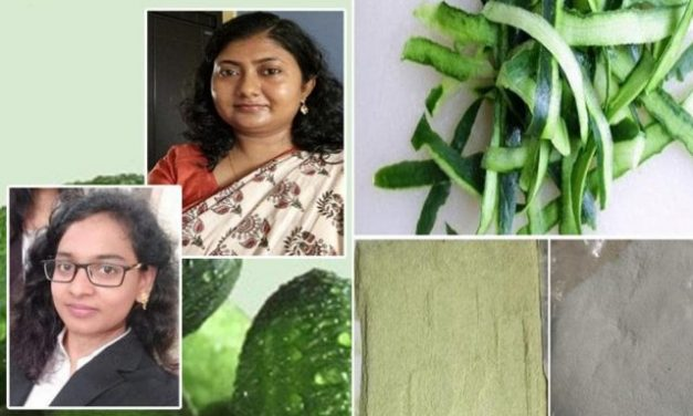 Eco-friendly food packaging material with cucumber peels
